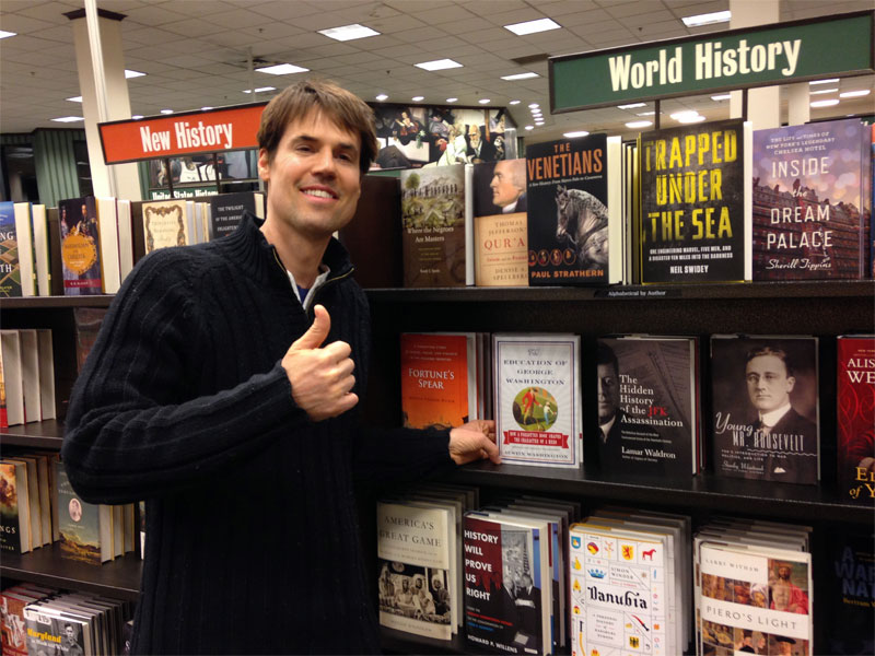 Austin Washington with The Education of George Washington (biography) at Barnes & Noble - Prominent Placement for a Great Book.